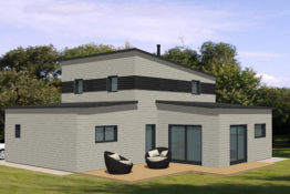 idee plan maison etage contemporaine modele bonnie becokit