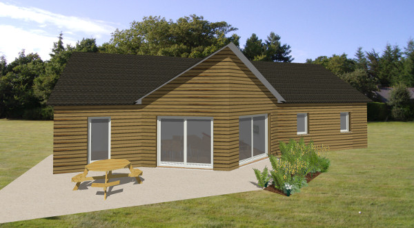 maison ossature bois idee plan traditionnel modele estelle becokit